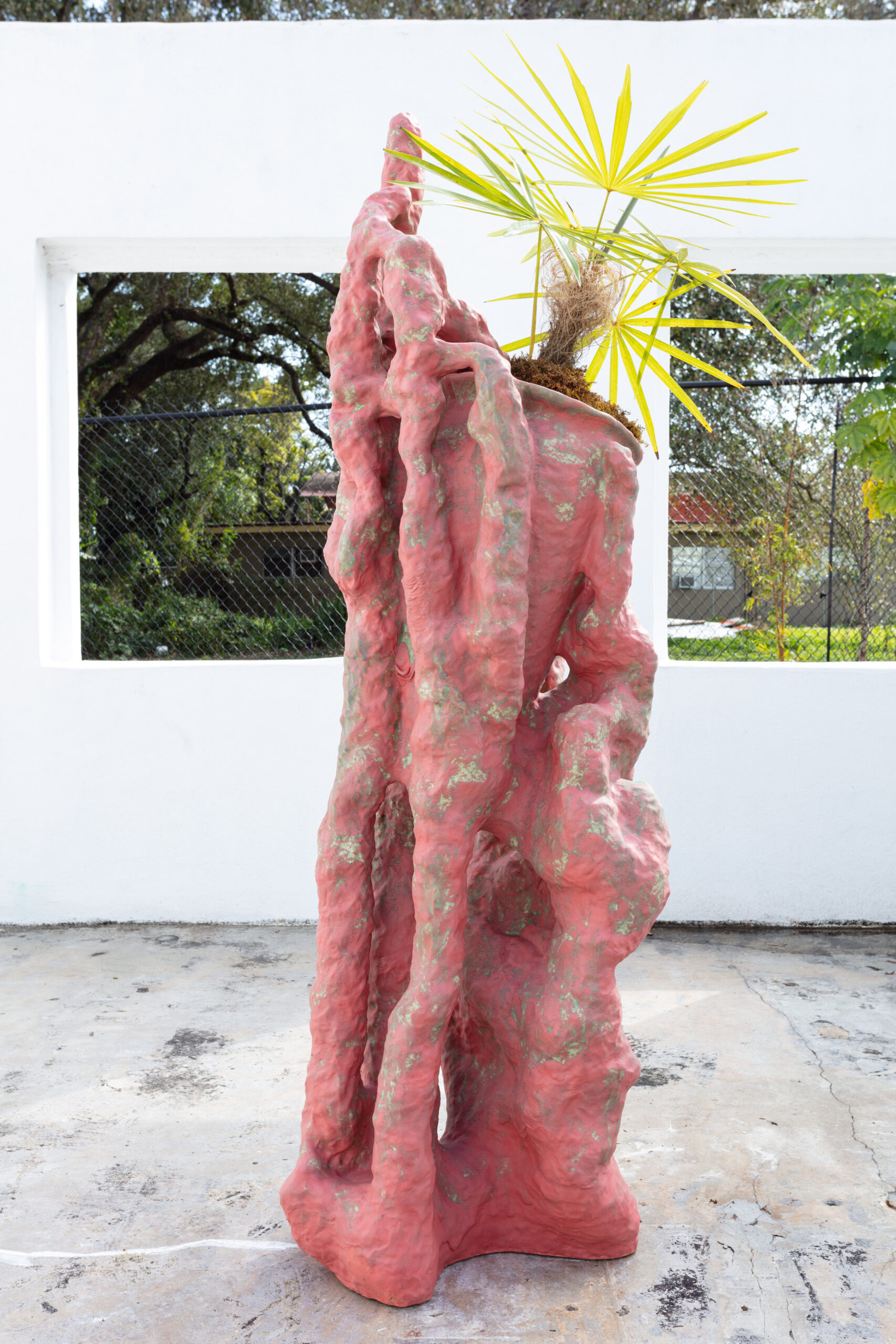 Anders Ruhwald, Object for a plant (Petitots Dream #3), 2021, glazed ceramic, 71 x 19 x 26 in.