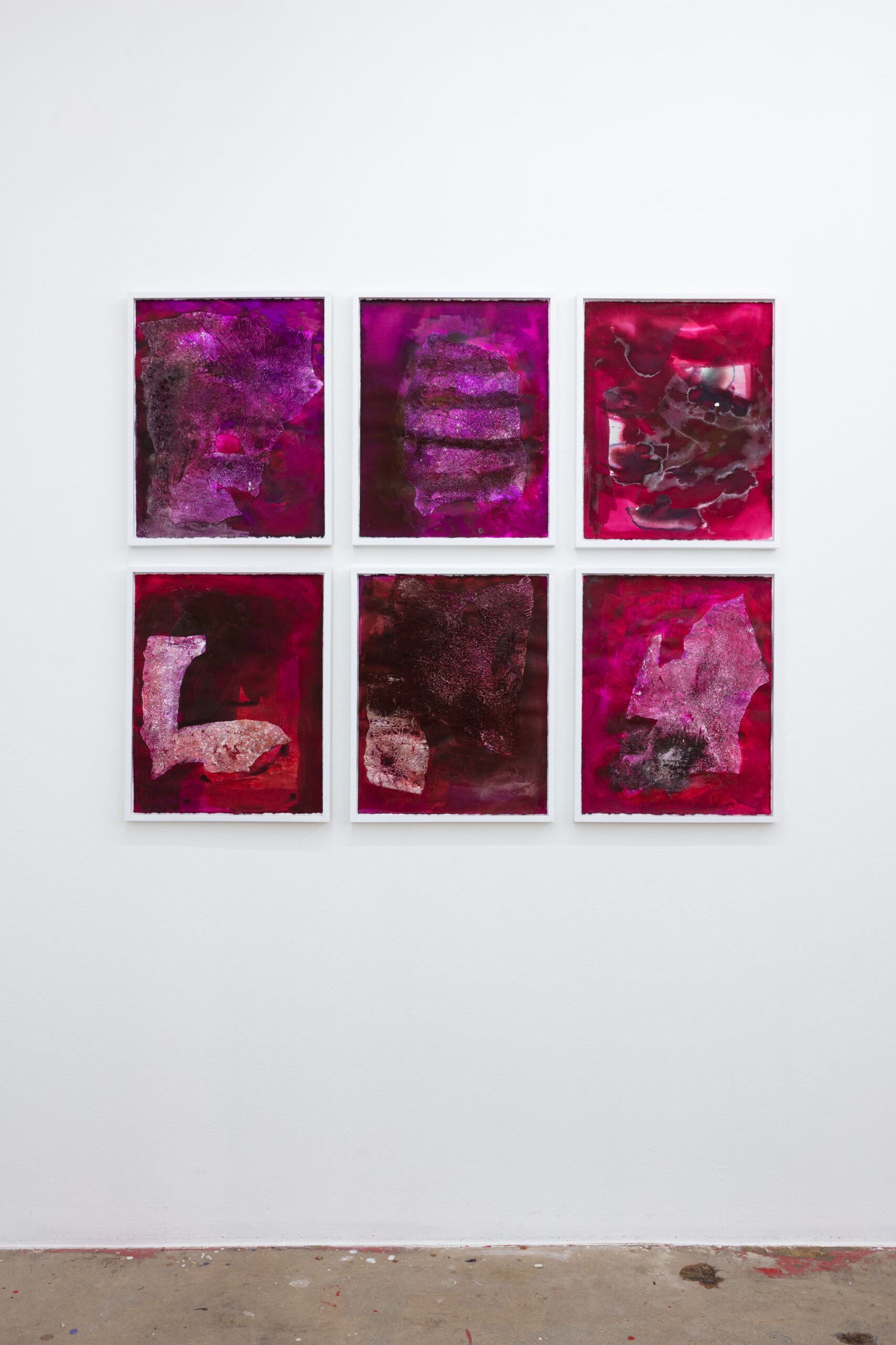 Anna Betbeze, Untitled (Forms Like Dreams) 1-6, gouache, dyes, pigments, foil on paper, 21.5 x 17.5 in. (each)