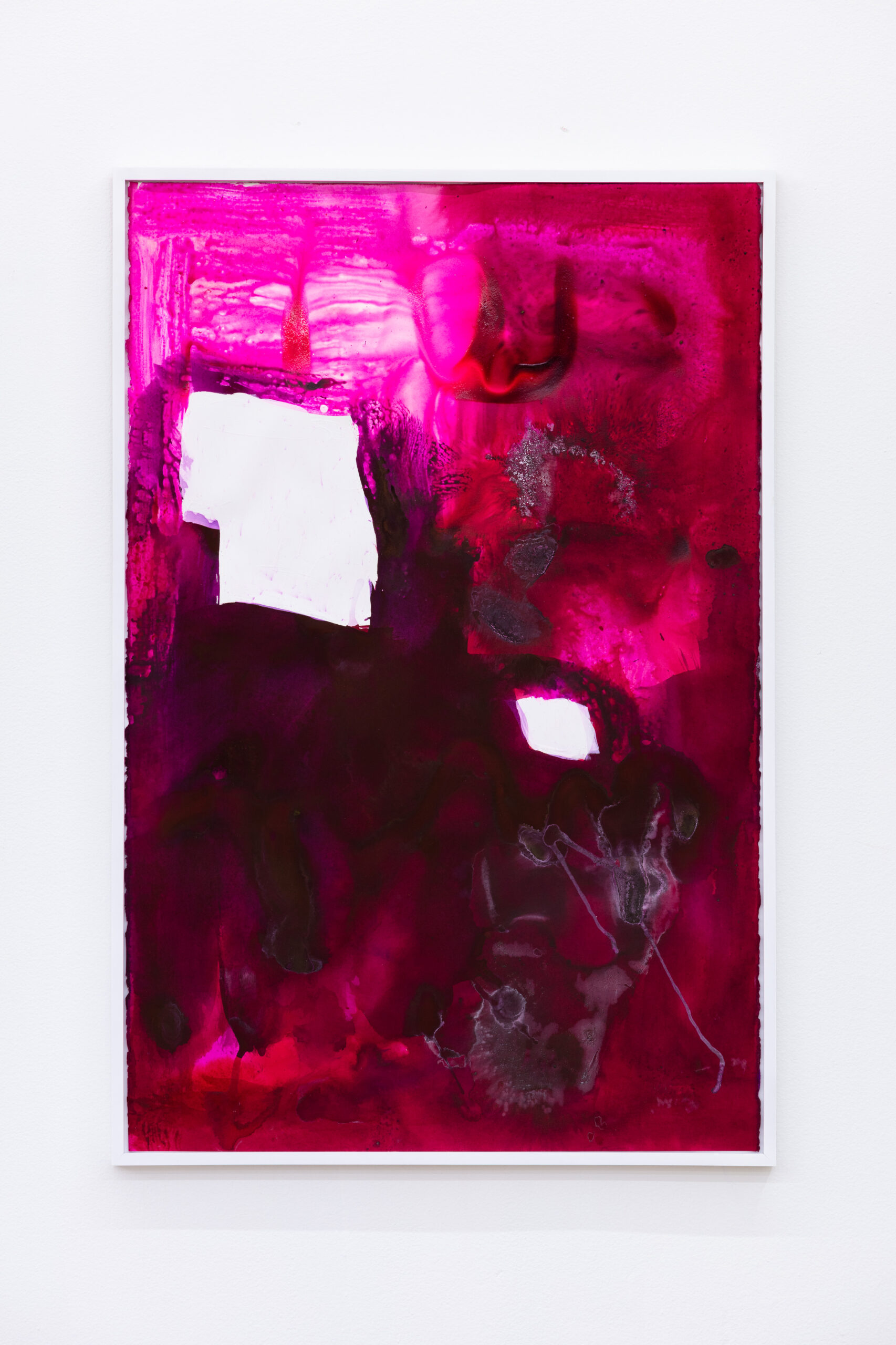 Anna Betbeze, Portal, 2021, gouache, dyes, and gesso on paper, 41 x 27.5 in.