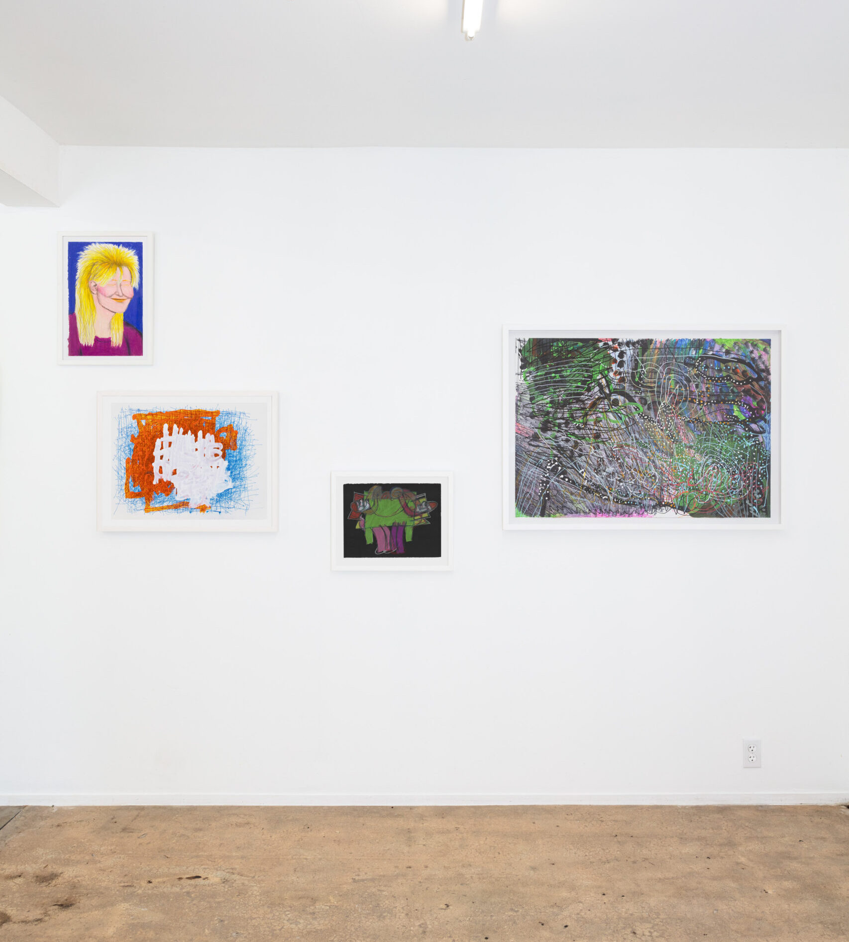 Vibrant, 16 artists from Creative Growth, installation view
