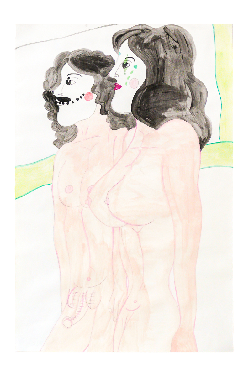 Aurie Ramirez, Untitled, 2006, Watercolor and ink on paper, 20.5 x 14.5 in.