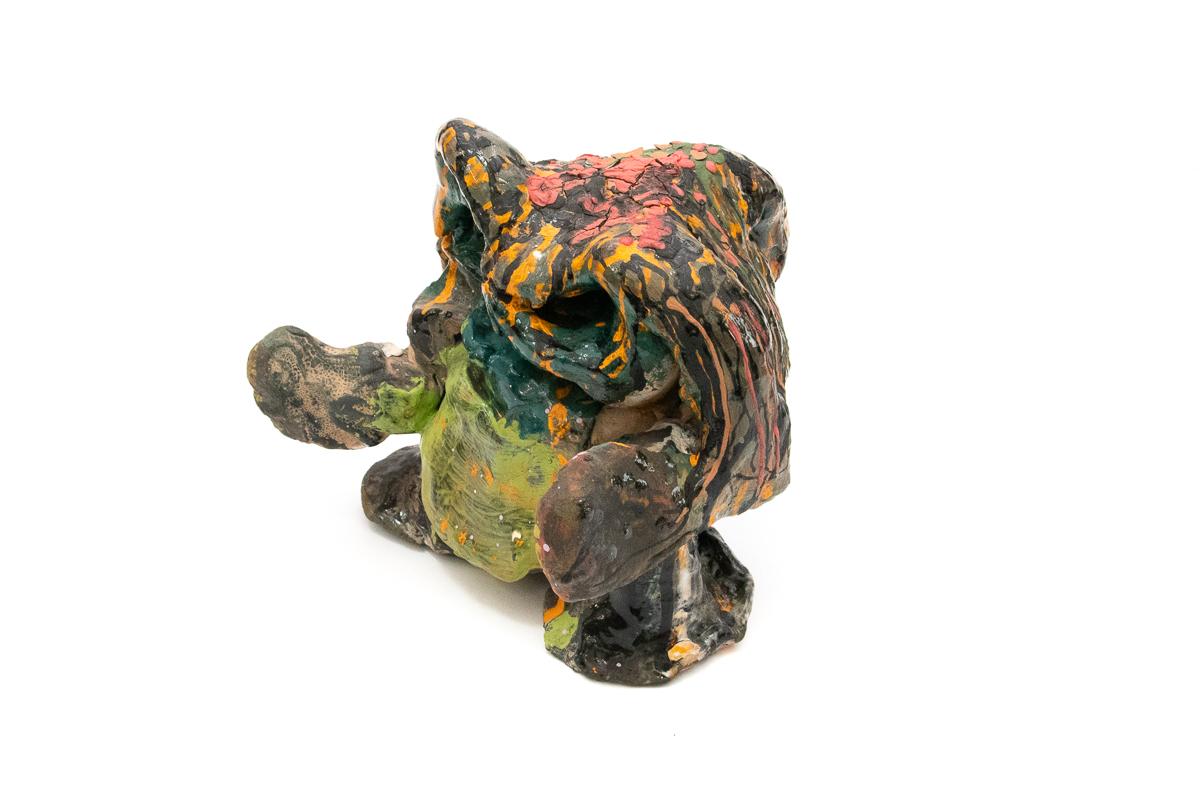 Carlos Perez, Untitled, undated. Ceramic, 7.5 x 8 x 7.5 in.