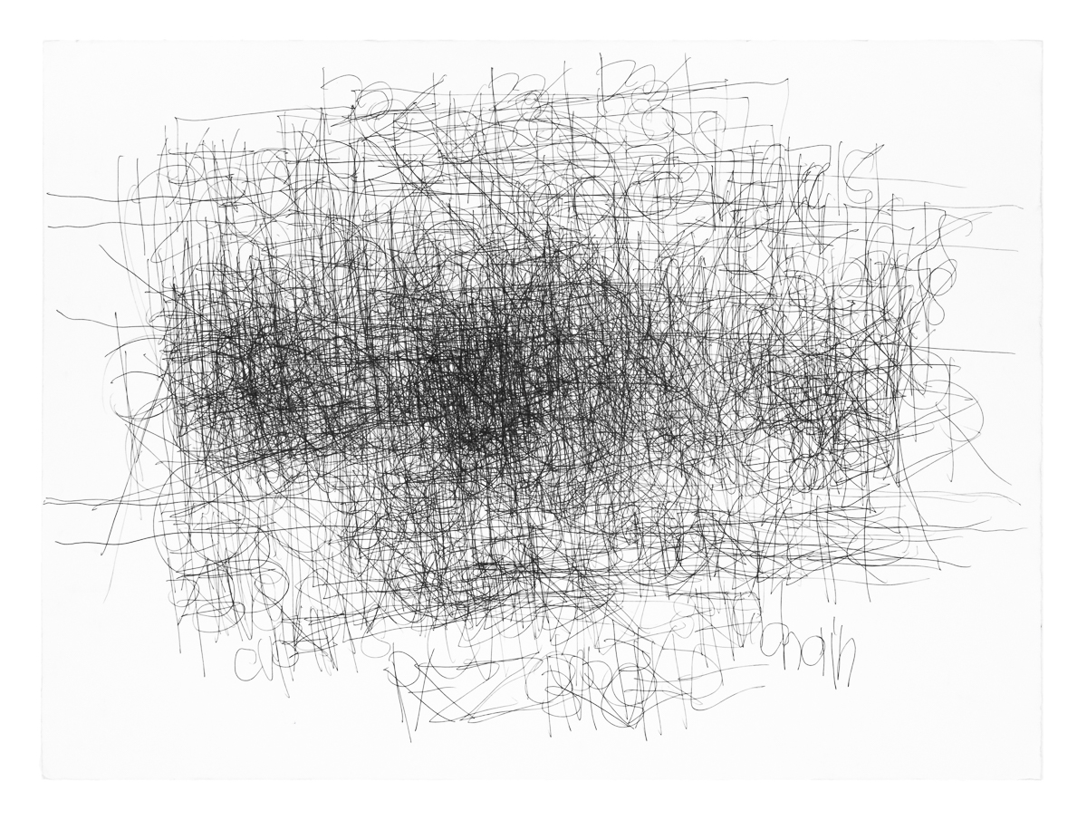 Dan Miller, Untitled, undated, ink on paper, 28 x 33.5 in.