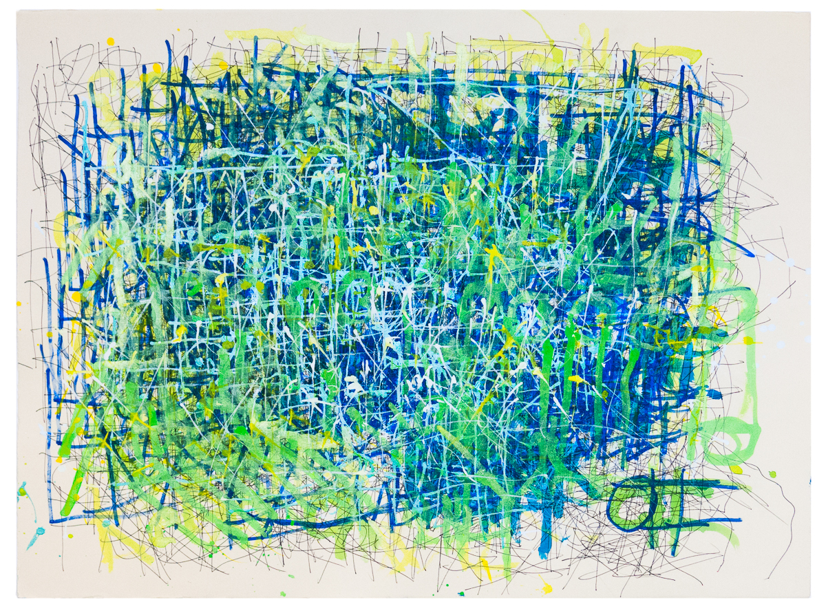 Dan Miller, Untitled, undated, acrylic and ink on paper, 26 x 33.5 in.
