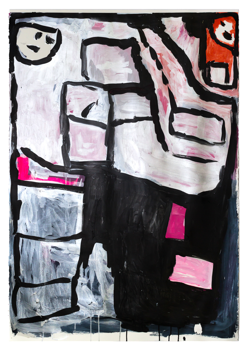 Donald Mitchell, Untitled, 2019, acrylic on paper, 48 x 34.5 in.