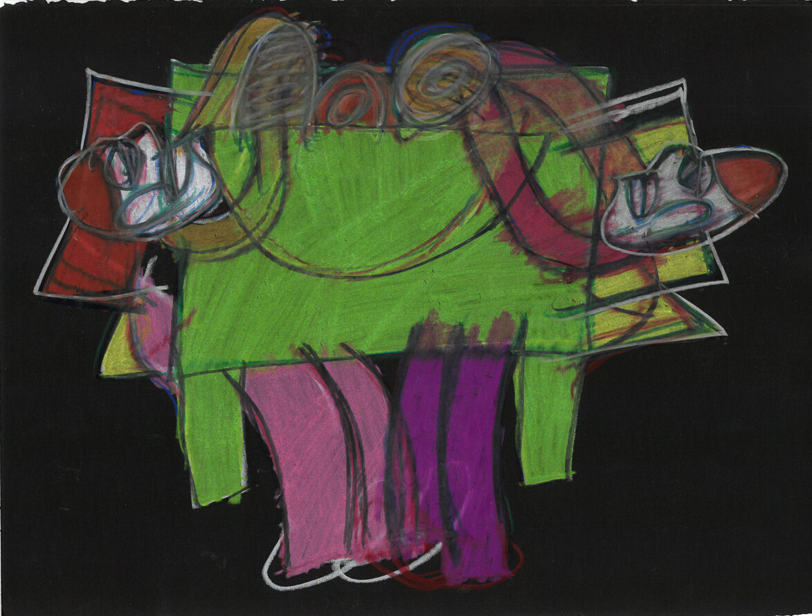 George Wilson, Untitled, undated, pastel on paper, 15.5 x 19 in.