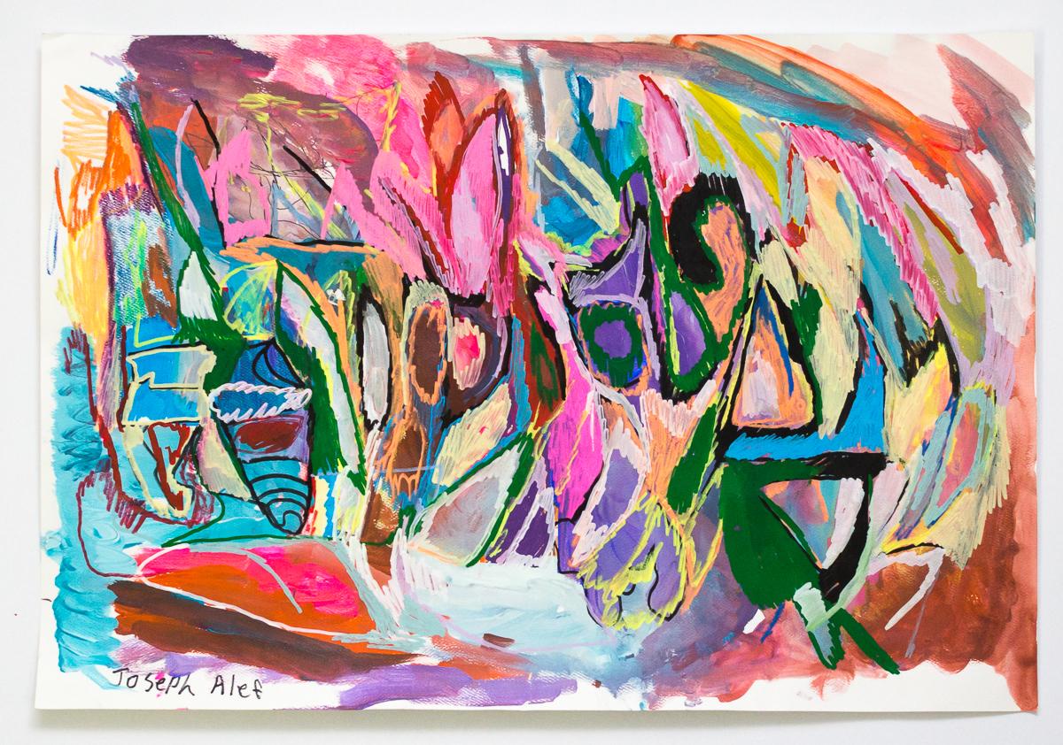 Joseph Alef, Untitled, 2018, acrylic on paper, 18 x 22.5 in.