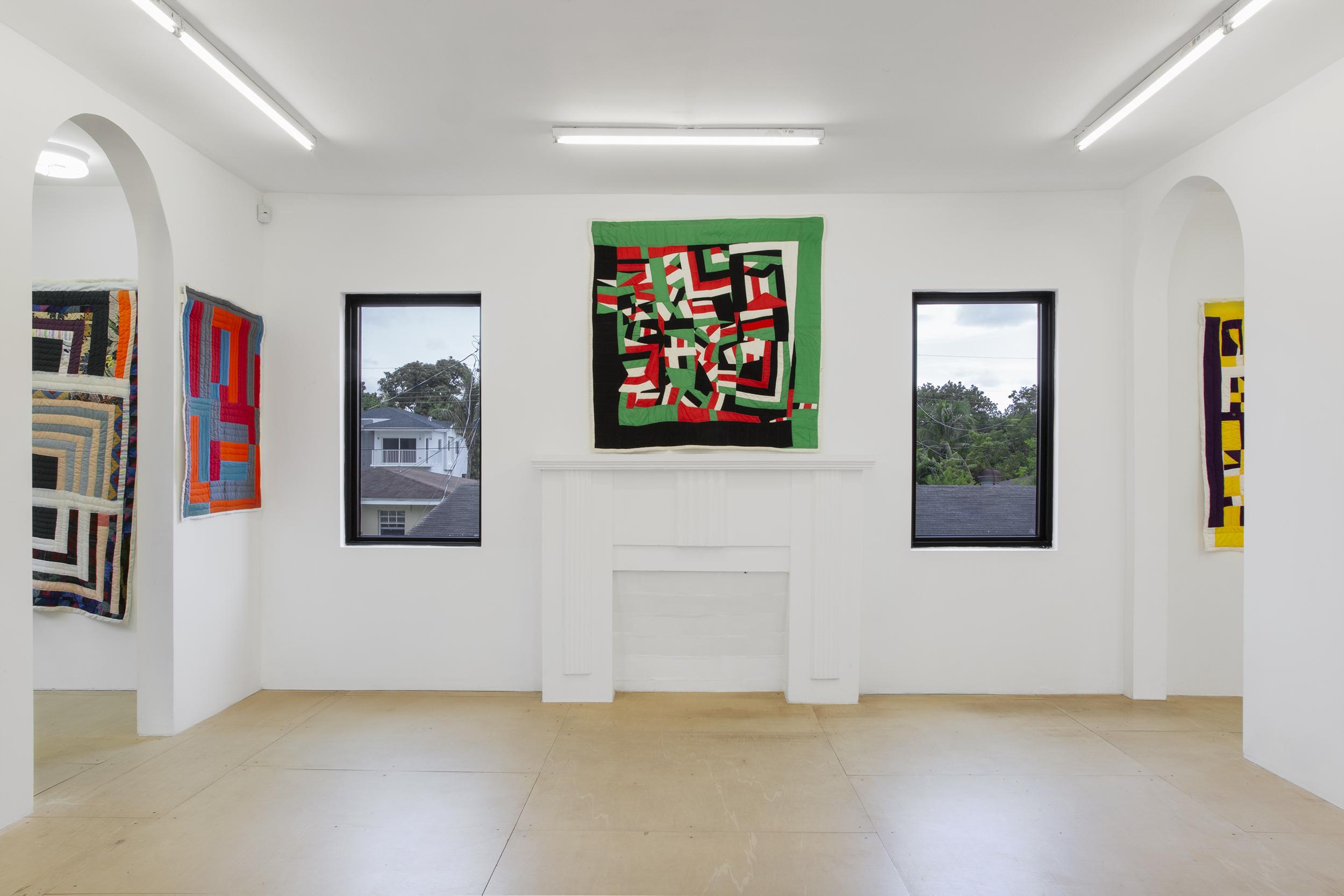 Marlene Bennett Jones quilts installation