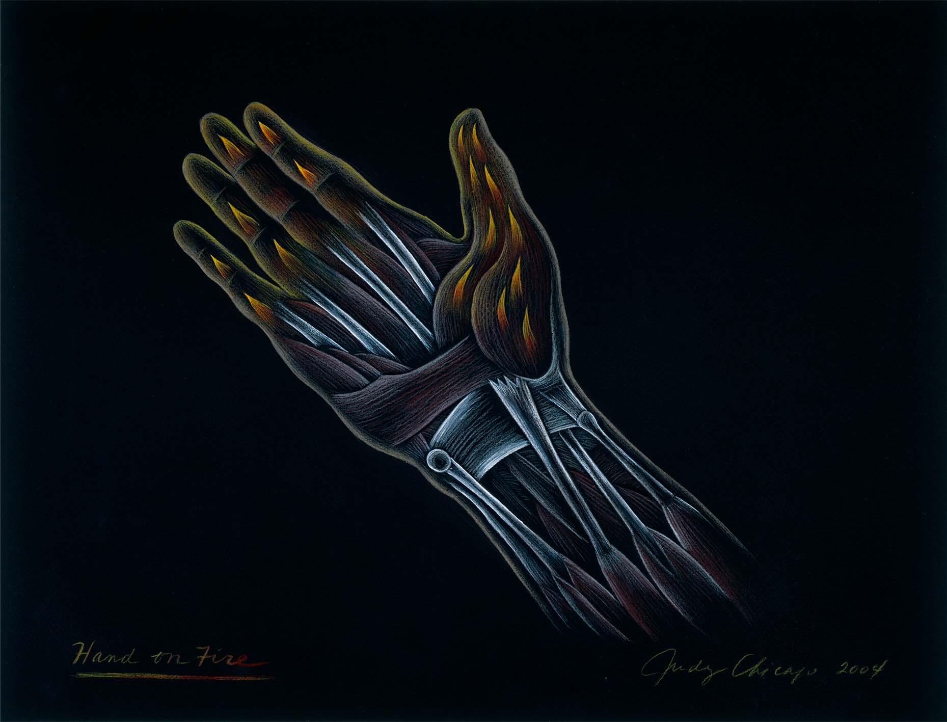 Judy Chicago Hand Drawing Nina Johnson